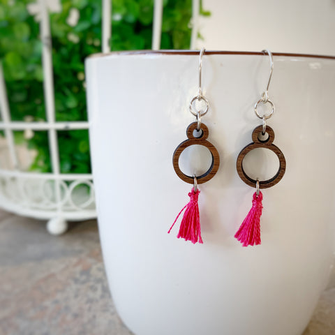 Teeny Tassel Loop Earrings