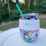 Swig 14oz Stemless - Frilly Lilly