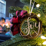 Joy Wreath Ornament