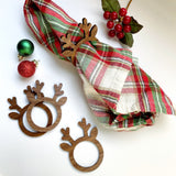 Reindeer Napkin Rings - Wood