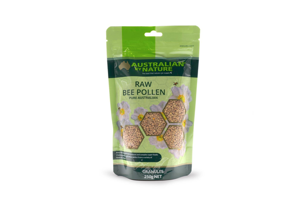 <p>Australian By Nature<br> Bee Pollen Granules 250g (Raw)</p> <p>$40.70</p>