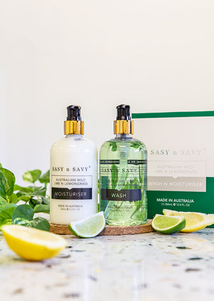 LIME AND LEMONGRASS WASH AND MOISTURISER PACK - MEDES Lifestyle