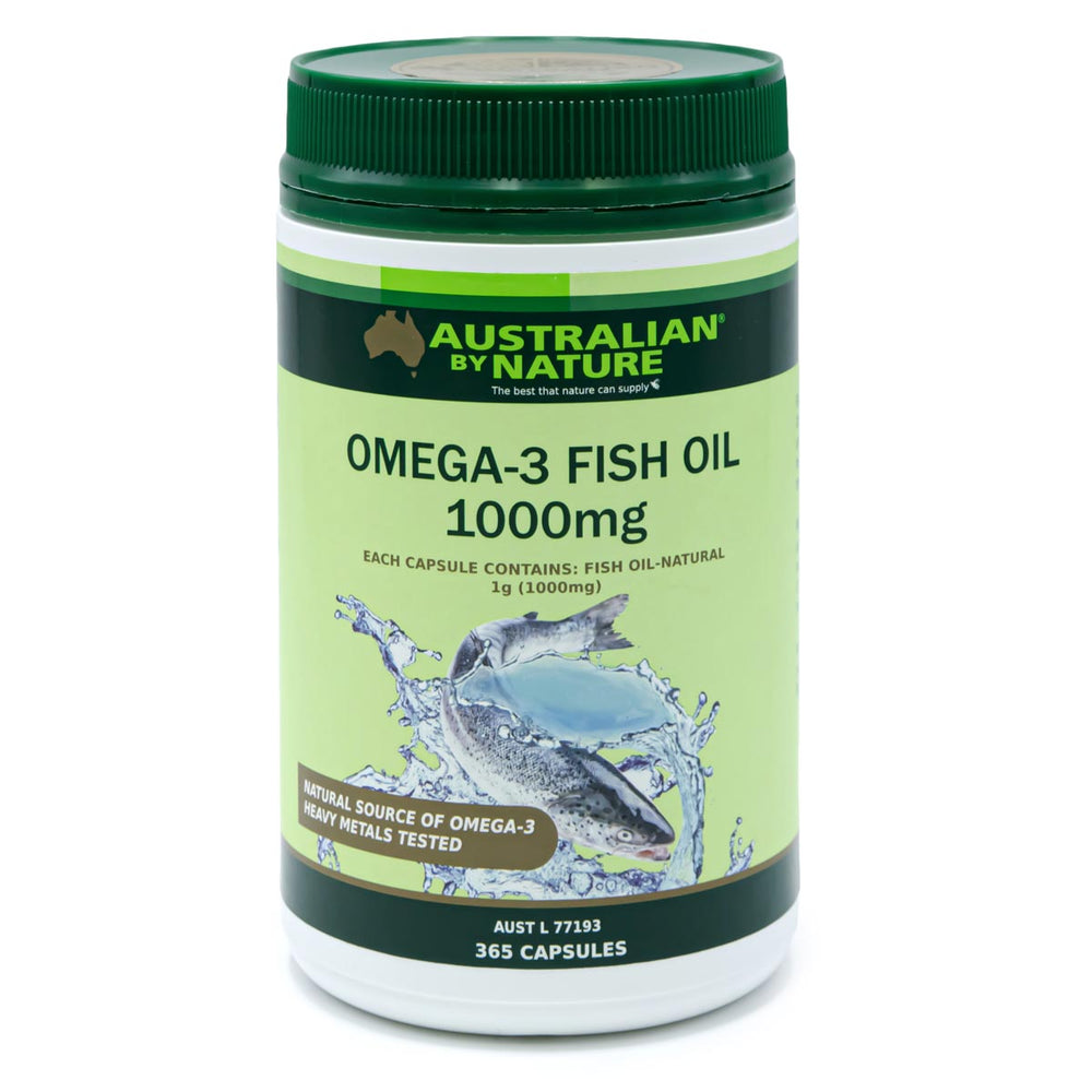 OMEGA-3 FISH OIL 365 CAPSULES (1000mg) - MEDES Lifestyle