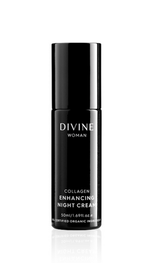 DIVINE WOMAN COLLAGEN ENHANCING NIGHT CREAM 50ML ~ ACO CERTIFIED ORGANIC - MEDES Lifestyle