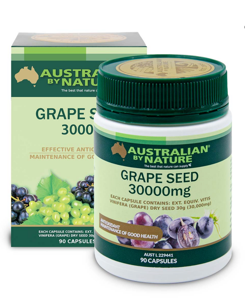GRAPE SEED 90 CAPSULES (30000mg) - MEDES Lifestyle®