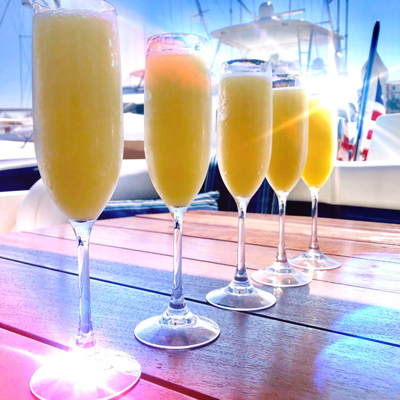 Bottomless mimosa sunday funday cocktails in marina del rey things to do in Los Angeles Champagne boat party charter rent a boat
