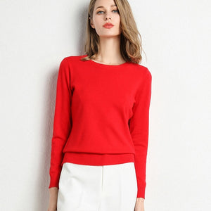 Women's Pullover O Neck Sweater