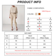 Load image into Gallery viewer, Women's High Waist Pants and Matching Long Sleeve Blouse