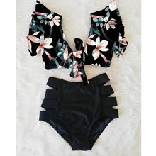Load image into Gallery viewer, Women's High Waist Floral Top Bikini