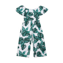 Load image into Gallery viewer, Girl's Green Leaf Printed Romper