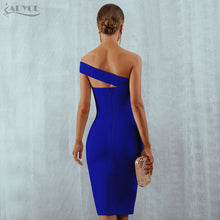 Load image into Gallery viewer, Women's One Shoulder Slash Neck Midi Dress