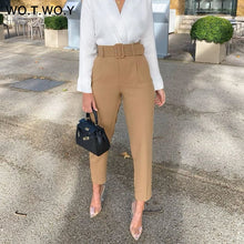 Load image into Gallery viewer, Women's High Waist Pencil Ankle-Length Trousers