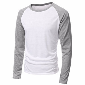 Men's Long Sleeve Round Neck Raglan T-shirt