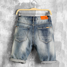 Load image into Gallery viewer, Men's Deconstructed Denim Bermuda Jean Shorts