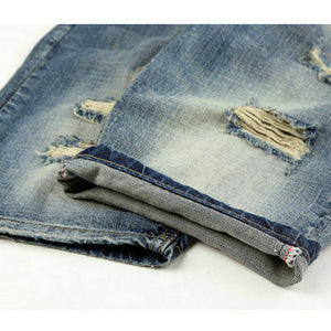 Men's Deconstructed Denim Bermuda Jean Shorts