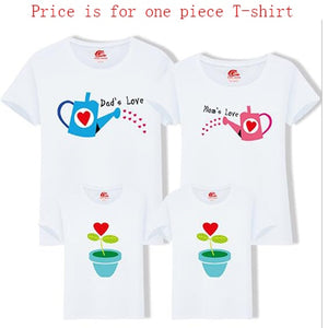 Family Matching Grow Love Short-sleeve T-shirts