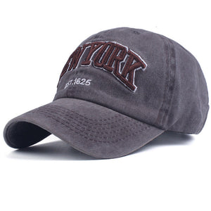Men's/Women's Washed Cotton Embroidered Baseball Caps