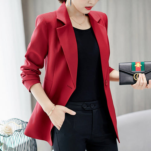 Women's Long Sleeve Slim Blazer