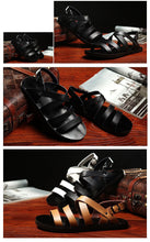 Load image into Gallery viewer, Men's Antiskid Genuine Leather Gladiator Buckle Strap Sandal