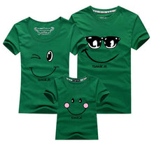Load image into Gallery viewer, Family Matching Smiling Face Short Sleeve Tshirts