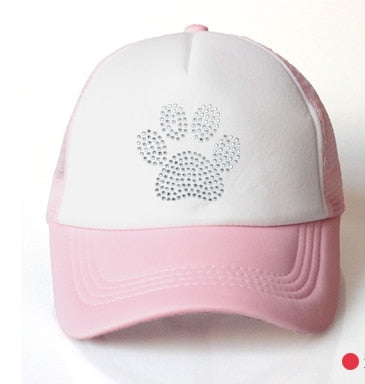 Boy's & Girl's Puppy Paw Diamond Embroidered Hat