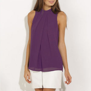 Women's Chiffon Sleeveless Blouse