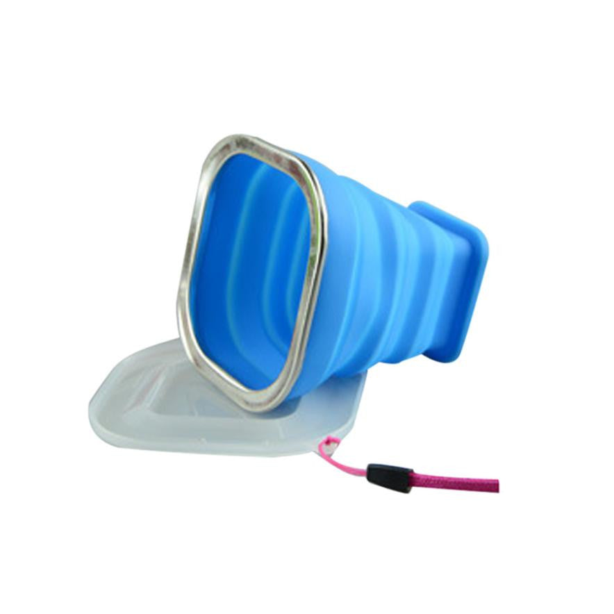 1Pcs Retractable Portable Silicone Mugs