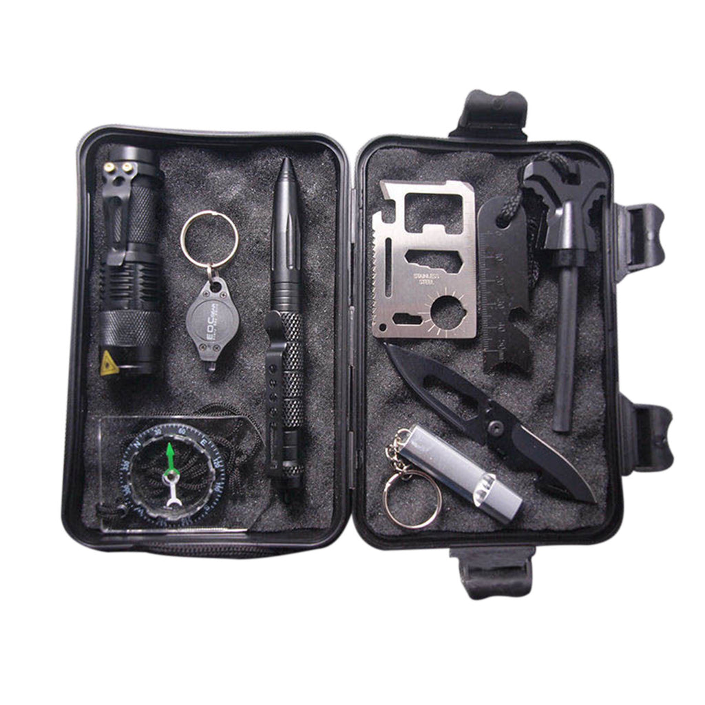 10 in 1 Multi Professional Emergency Survival Kit