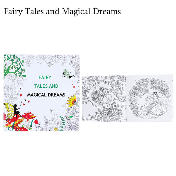 Fairy Tales Adult Coloring Book