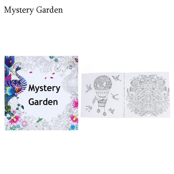 Mystery Garden Adult Coloring Book