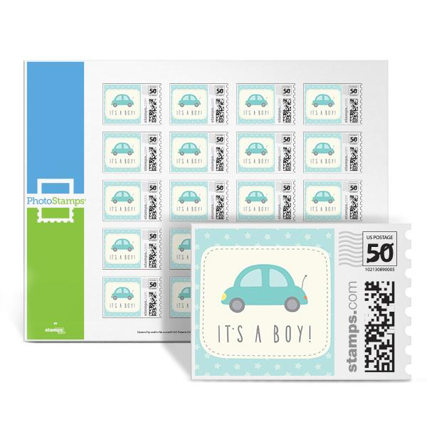 Auto - It's a Boy PhotoStamps