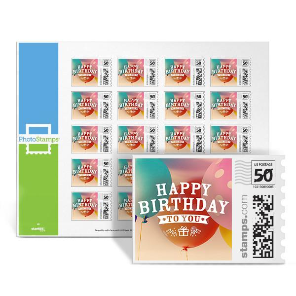 Balloon Celebration PhotoStamps