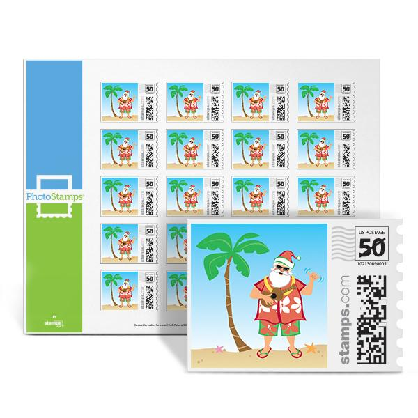Beach Santa PhotoStamps