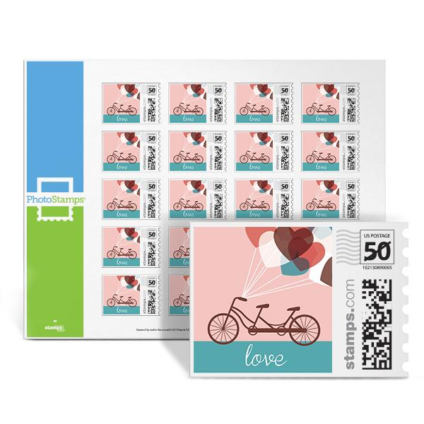 Bicycle - Love PhotoStamps