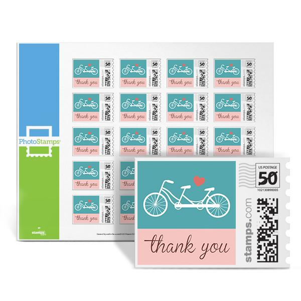 Bicycle - Thank You PhotoStamps