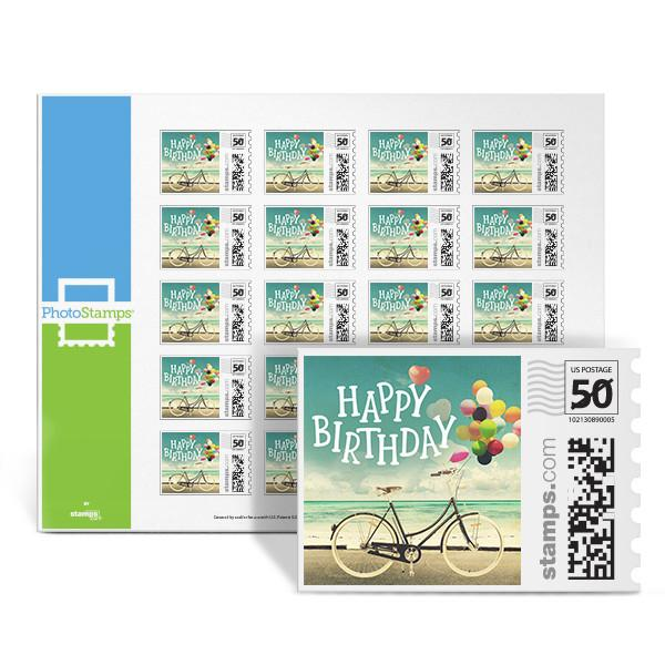 Birthday Bike PhotoStamps