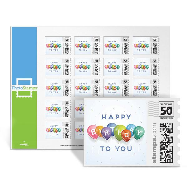 Birthday Celebration PhotoStamps