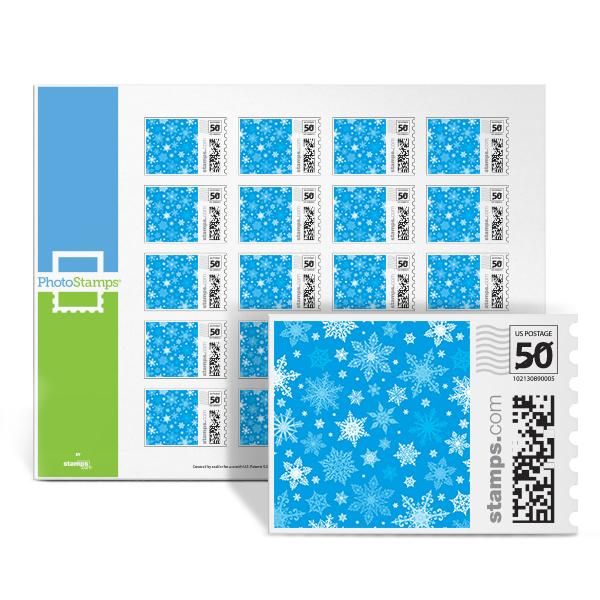 Blue Snowflakes PhotoStamps