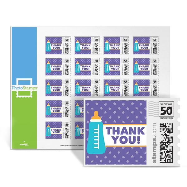 Bottle - Thank You PhotoStamps