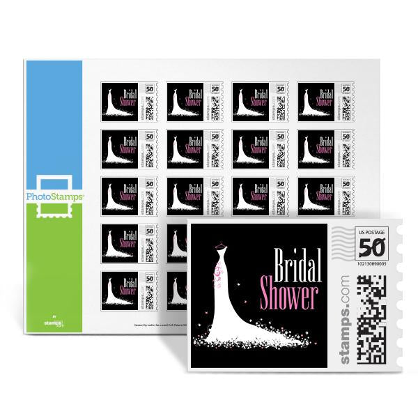 Bridal Shower Dress - Black PhotoStamps