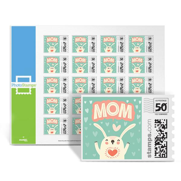 Bunny Mom PhotoStamps