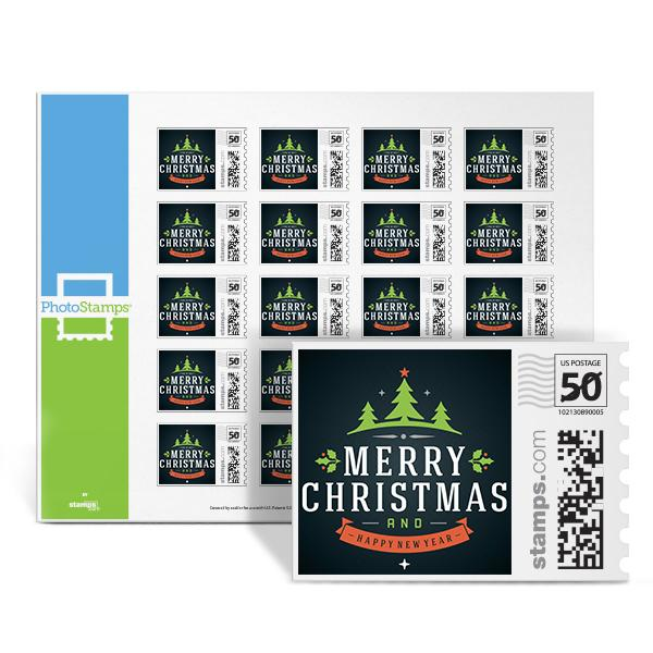Christmas Treeline PhotoStamps