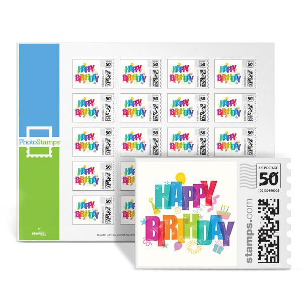 Colorful Birthday PhotoStamps