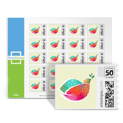 Colorful Dove PhotoStamps