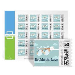 Double the Love - Blue PhotoStamps