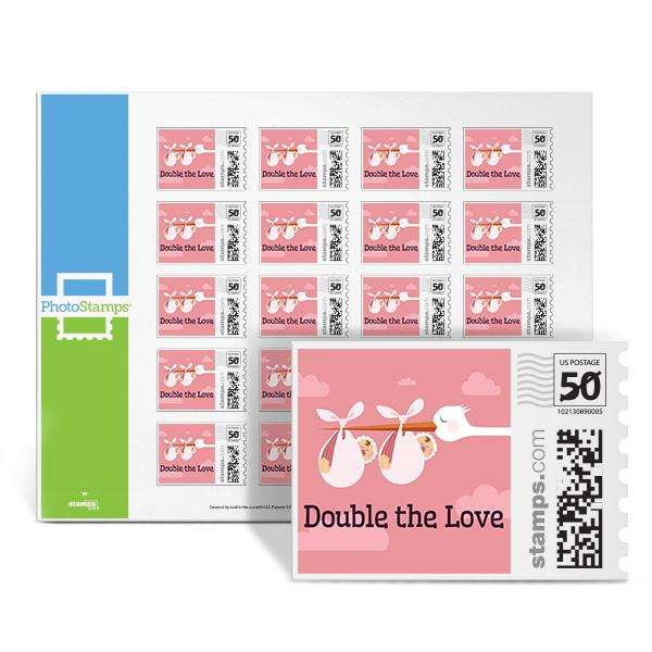 Double the Love - Pink PhotoStamps