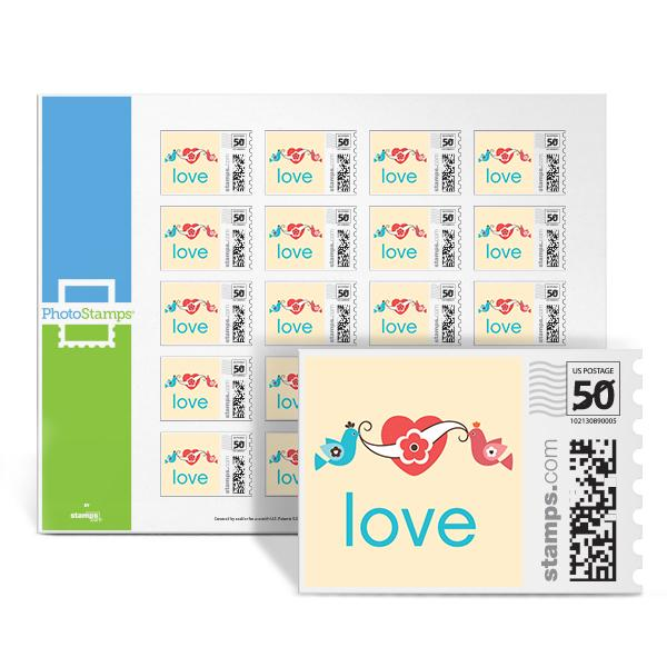 Doves - Love PhotoStamps