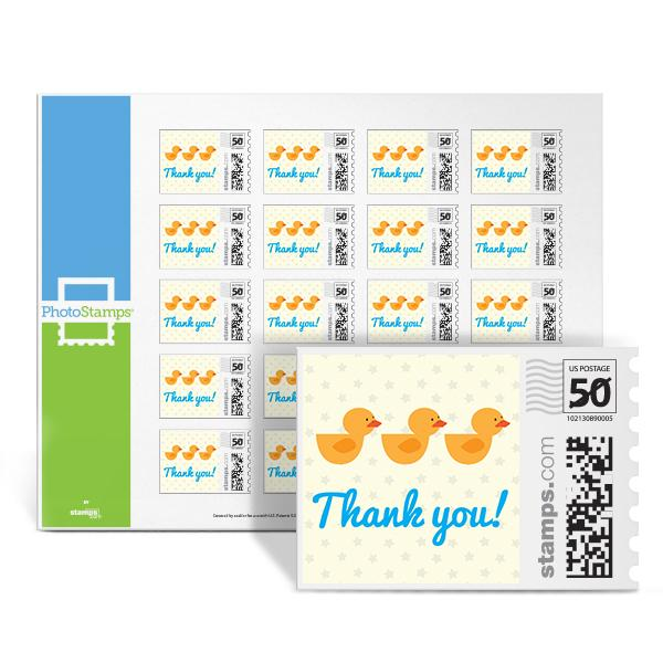 Duckies - Thank You PhotoStamps