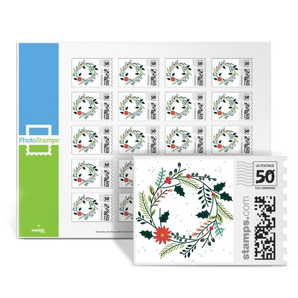 Elegant Wreath PhotoStamps
