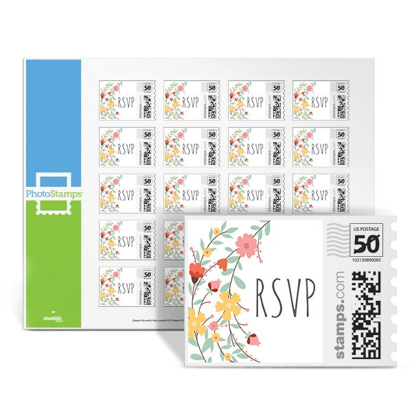 Floral Wreath - RSVP PhotoStamps